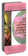 St. Theresa Prayer With Pink Border Portable Battery Charger