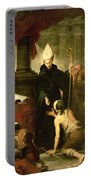 St. Thomas Of Villanueva Distributing Alms, 1678 Oil On Canvas Portable Battery Charger