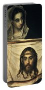 St Veronica With The Holy Shroud Portable Battery Charger