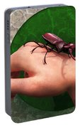 Stag Beetle On Hand Portable Battery Charger