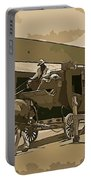 Stagecoach In Old West Arizona Portable Battery Charger