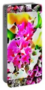 Stain Glass Framed Florals Portable Battery Charger