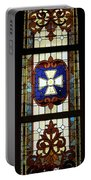Stained Glass 3 Panel Vertical Composite 01 Portable Battery Charger by Thomas Woolworth