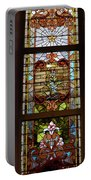 Stained Glass 3 Panel Vertical Composite 02 Portable Battery Charger by Thomas Woolworth