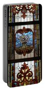 Stained Glass 3 Panel Vertical Composite 04 Portable Battery Charger