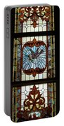 Stained Glass 3 Panel Vertical Composite 05 Portable Battery Charger by Thomas Woolworth