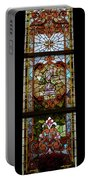 Stained Glass 3 Panel Vertical Composite 06 Portable Battery Charger