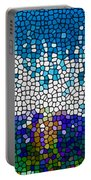 Stained Glass Anemone 1 Portable Battery Charger