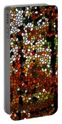 Stained Glass Autumn Colors In The Forest  Portable Battery Charger