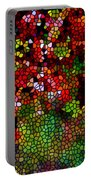 Stained Glass Autumn Leaves Reflecting In Water Portable Battery Charger