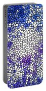 Stained Glass Beautiful Fireworks 1 Portable Battery Charger