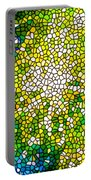 Stained Glass Beautiful Fireworks Portable Battery Charger