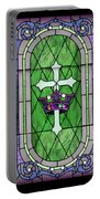 Stained Glass Beauty Portable Battery Charger