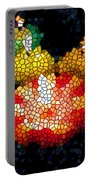 Stained Glass Candle 1 Portable Battery Charger
