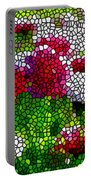 Stained Glass Chrysanthemum Flowers Portable Battery Charger