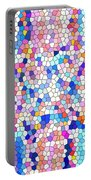Stained Glass Colorful Cross Portable Battery Charger