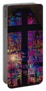 Stained Glass Cross Portable Battery Charger