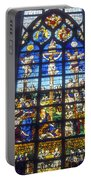 Stained Glass Crucifixion Portable Battery Charger