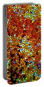 Stained Glass Fall Orange Maple Tree Portable Battery Charger