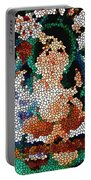 Stained Glass Ganapati Portable Battery Charger