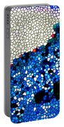 Stained Glass Leopard 1 Portable Battery Charger