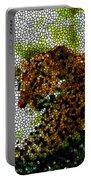 Stained Glass Leopard 2 Portable Battery Charger