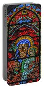 Stained Glass Of Chartres Portable Battery Charger