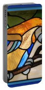 Stained Glass Parrot Window Portable Battery Charger