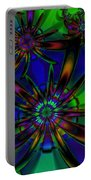 Stained Glass Passion Flowers Portable Battery Charger
