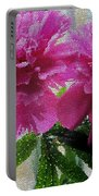 Stained Glass Peonies Portable Battery Charger