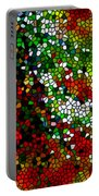 Stained Glass Pine Tree Portable Battery Charger