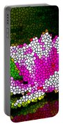 Stained Glass Pink Lotus Flower   Portable Battery Charger by Lanjee Chee