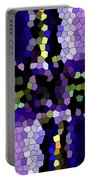 Stained Glass Purple Cross Portable Battery Charger