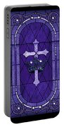 Stained Glass - Purple Portable Battery Charger