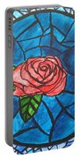 Stained Glass Roses Portable Battery Charger