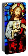 Stained Glass Saviour Portable Battery Charger