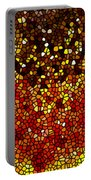 Stained Glass Sunflower Closeup Portable Battery Charger