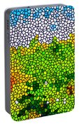 Stained Glass Sunflowers Portable Battery Charger