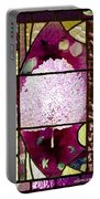 Stained Glass Template Magnolia Glory Portable Battery Charger
