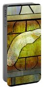 Stained Glass Template Maple Seedling Portable Battery Charger