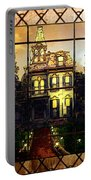 Stained Glass Template Victorian Twilight Portable Battery Charger