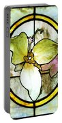 Stained Glass Template Woodlands Flora Portable Battery Charger