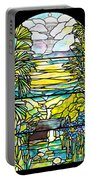 Stained Glass Tiffany Holy City Memorial Window Portable Battery Charger