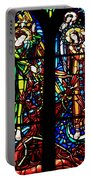 Stained Glass Window At Mont  Le Saint-michel Portable Battery Charger