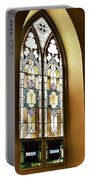 Stained Glass Window In Arch Portable Battery Charger
