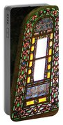 Stained Glass Window In Saint Sophia's In Istanbul-turkey  Portable Battery Charger