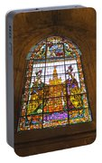 Stained Glass Window In Seville Cathedral Portable Battery Charger