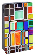 Stained Glass Window Multi-colored Abstract Portable Battery Charger