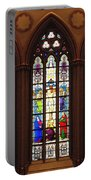 Stained Glass Windows At Saint Josephs Cathedral Buffalo New York Portable Battery Charger