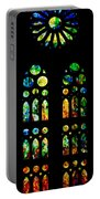 Stained Glass Windows - Sagrada Familia Barcelona Spain Portable Battery Charger